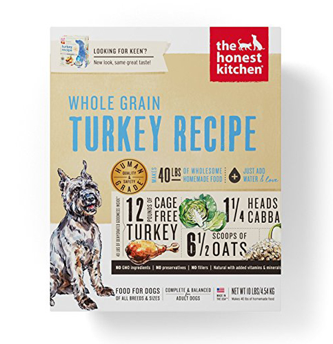 5. Honest Kitchen Dehydrated Organic Dog Food – Cage Free Turkey