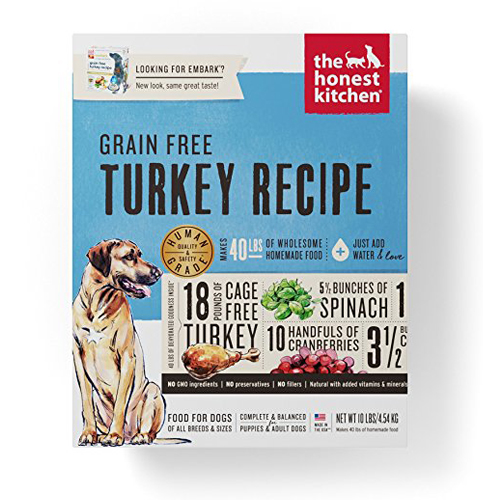 3. Honest Kitchen Dehydrated Dog Food (Grain Free) – Cage Free Turkey