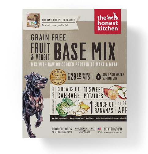 7. Honest Kitchen Grain Free Veggie, Nut & Seed Base Mix Recipe