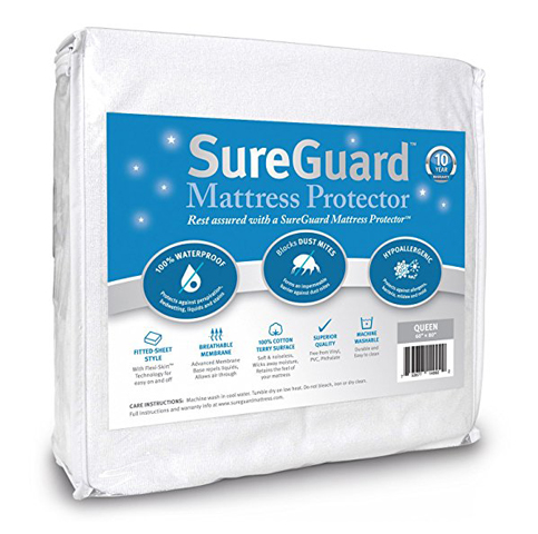 8. Size SureGuard Queen Mattress Protector