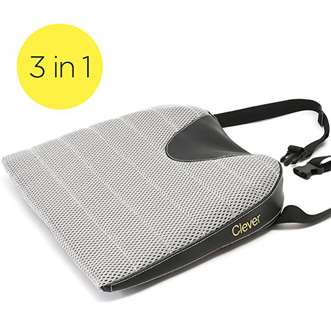 1. Clever Yellow Car Seat Cushion with a Strap