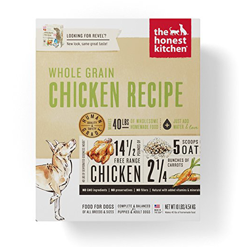 1. Honest Kitchen Dehydrated Organic Dog Food – Free Range Chicken