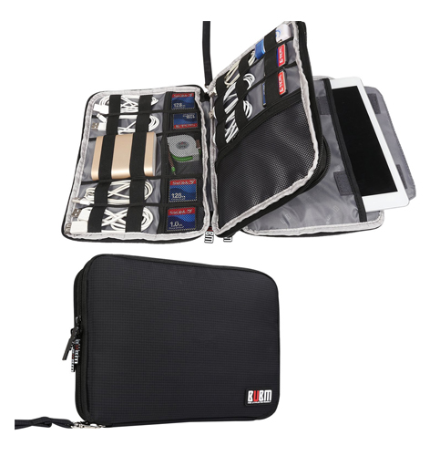 5. BUBM double layer travel gadget and electronics organizer