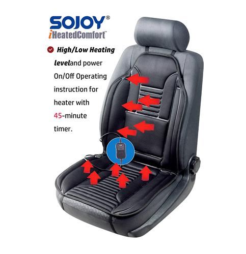 10. Sojoy SJ154A 12V Universal Heated Car Seat Cushion