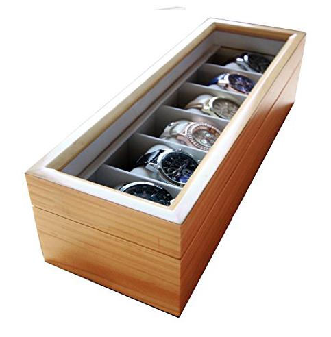 4. Solid wood case elegance watch box