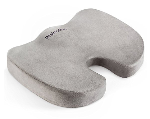 5. Sleep Restoration Comfy Cure Memory Foam Seat Cushion