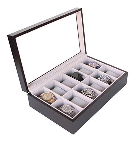 6. Case elegance espresso watch box organizer