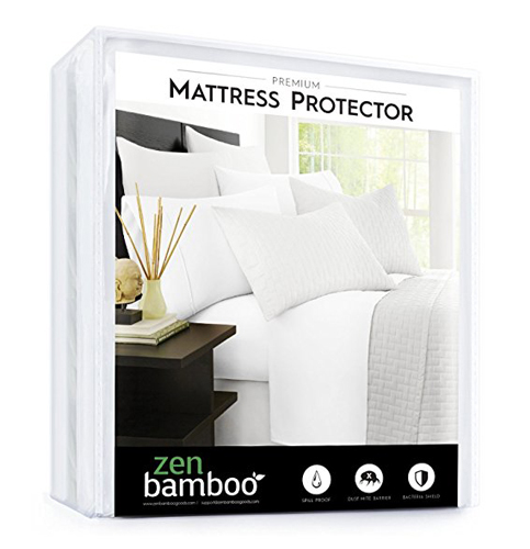 9. Zen Bamboo Waterproof Mattress Protector