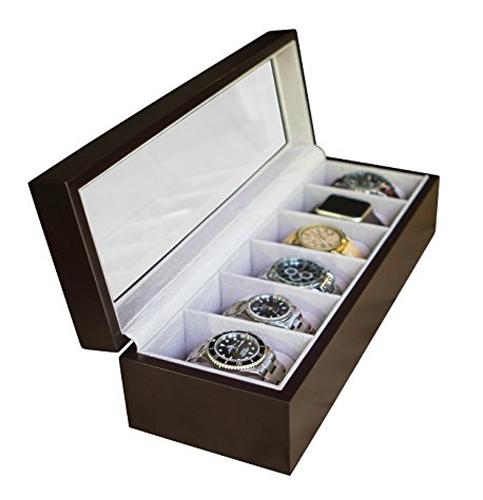 2. Case elegance solid wood watch box