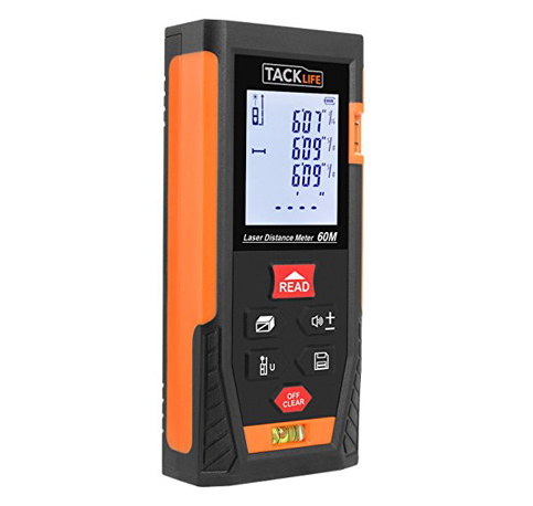 7. Tacklife HD60 Classic Laser Measure 196Ft
