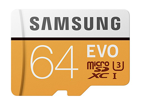 8. Samsung 100MB/s (U3) MicroSD Card with Adapter