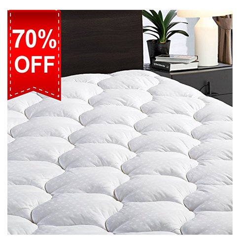 3. LEISURE TOWN Queen Mattress Pad Cover