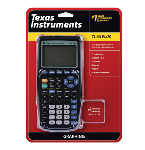 3. Texas Instruments Plus Graphing Calculator (TI-83)