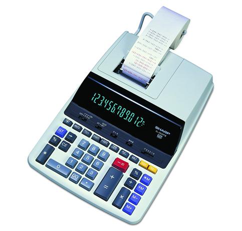 9. Sharp Two-Color Printing Calculator (EL-2630PIII)