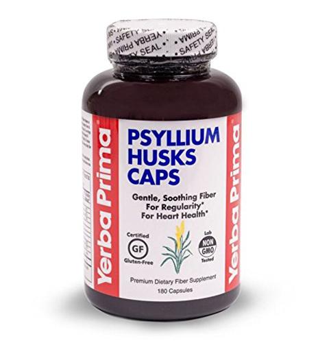 2. Yerba Prima Psyllium Husks , 625 mg, 180 Capsules