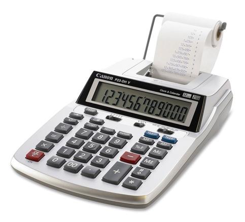 2. Canon 2 color mini-Desktop Printing Calculator (P23-DH V)