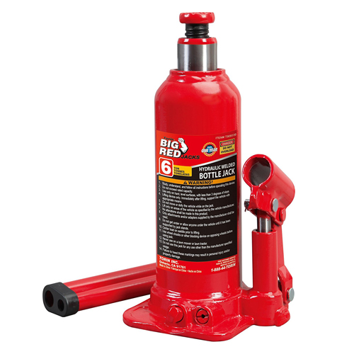 3.Torin Hydraulic Bottle Jack (6 Ton Capacity)