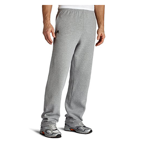 1. Russell Athletic Men's Dri-Power Sweatpants (Open Bottoms)