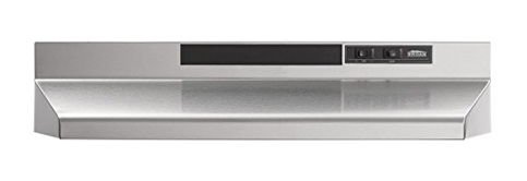 5. Broan 30 In. Stainless Steel Range Hood (403004)