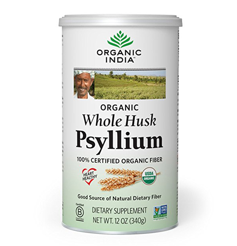 9. Organic India Whole Husk Psyllium, 12-Ounce