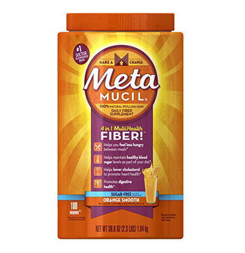 5. Metamucil Daily Fiber Supplement, Orange