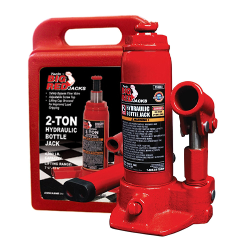 7. Torin Hydraulic Bottle Jack with Carrying Case (2 Ton Capacity)
