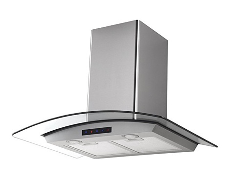 "6. Kitchen Bath Collection 30"" Stainless Steel Range Hood (HA75-LED)"