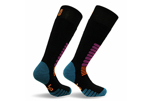 Absorbs Shock Ski and Snowboard Sock Knee-High Performance Warm Skiing Socks,Padded Protection Ventilation Channels