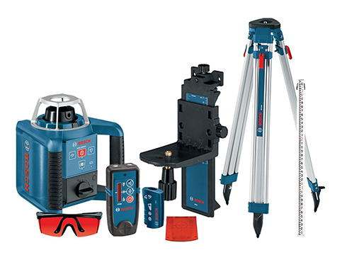3. Bosch Self-Leveling Rotary Laser Kit with Remote