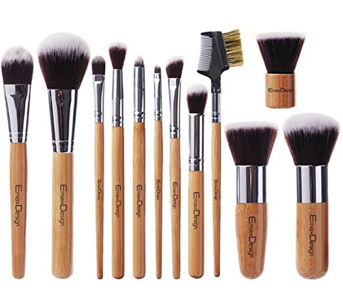 5. EmaxDesign 12 Pieces Makeup Brush Set