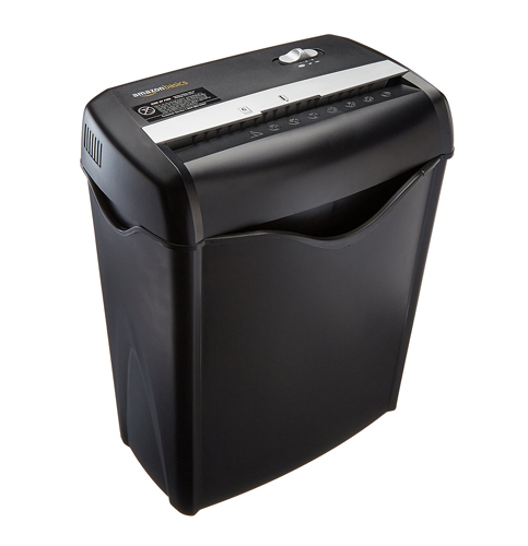1. AmazonBasics 6-Sheet Cross-Cut Paper Shredder