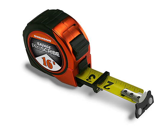 4. Swanson Tool SVPS16M1 16-Feet Magnetic Savage Proscribe Tape Measure