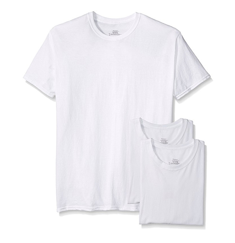9. Hanes Men's Crew Neck T-Shirt (3-Pack)