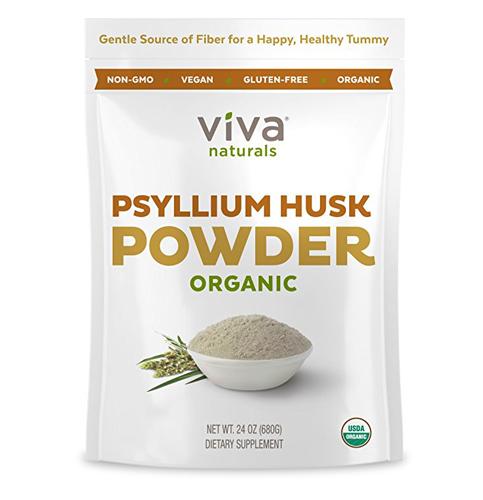 10. Viva Naturals Organic Psyllium Husk Powder, 24 oz