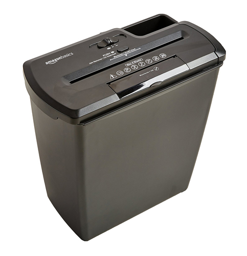 8. AmazonBasics 8-Sheet Strip-Cut Paper Shredder