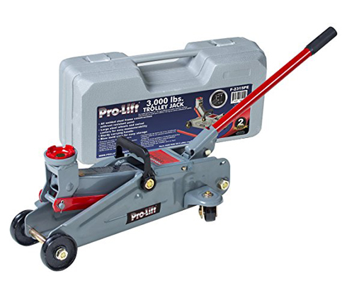 9. Pro Lift 3000lbs Grey Hydraulic Trolley Jack (F-2315PE)