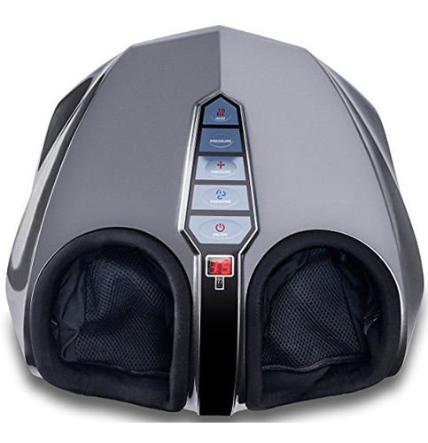 2. Miko Charcoal Grey Shiatsu Foot Massager