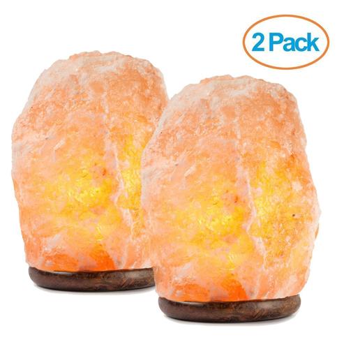 9. HemingWeigh Natural Himalayan Salt Lamp (2 PACK)