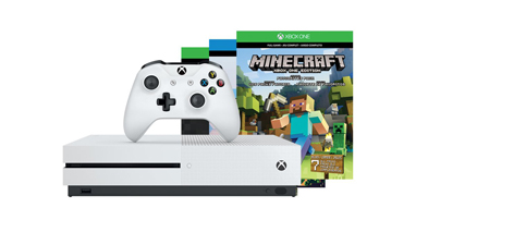 3. Xbox One S 500GB Console (Minecraft Bundle)