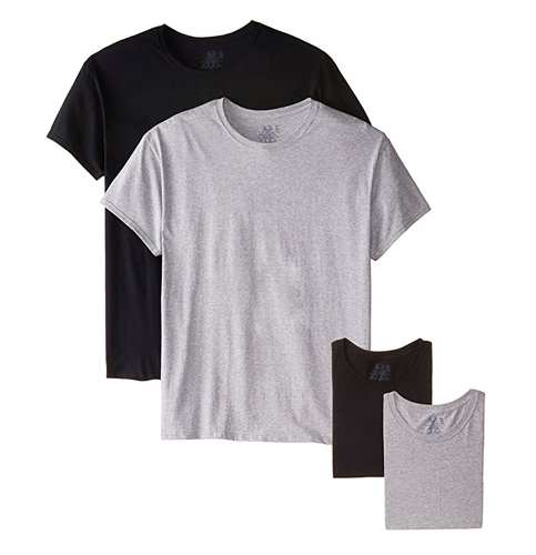 4. Fruit of the Loom Pack of 4 Men's Crew Neck T-Shirt