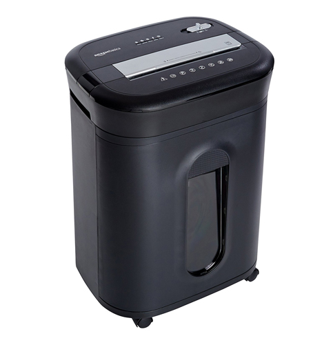 10. AmazonBasics 15-Sheet Cross-Cut Paper Shredder