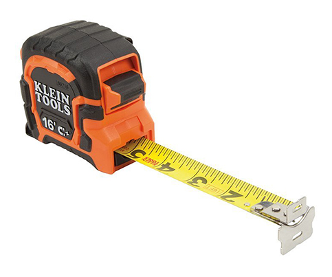 5. Klein Tools 86216 Double Hook Magnetic Tape Measure, 16-Foot