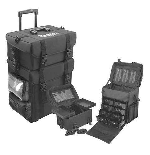 10. Kemier Soft-Sided Cosmetic Train Case