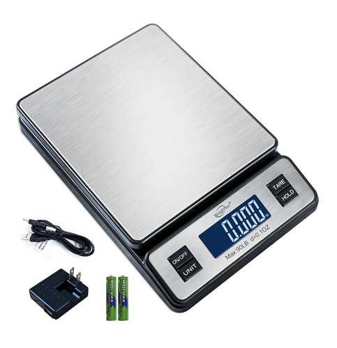 1. Weighmax W-2809 Stainless Steel Digital Postal Scale