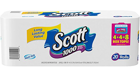 7. Scott 1000 Sheets Roll Toilet Paper