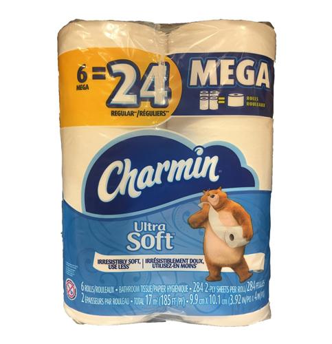 5.Charmin Mega Toilet Paper (24 Count)