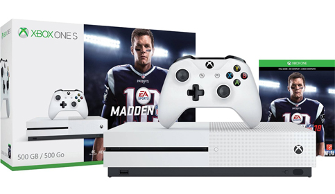 10. Xbox One S 500GB Console Madden NFL 18 Bundle