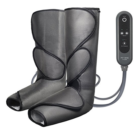 9. FIT KING Leg Air Massager (Dark Gray)