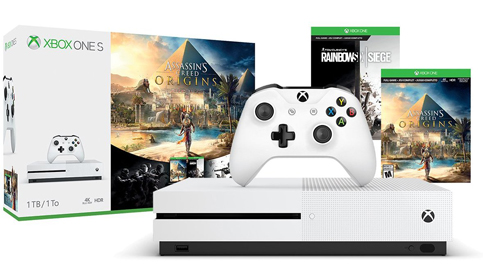 9. Xbox One S 1TB Console (Assassin's Creed Origins Bonus Bundle)