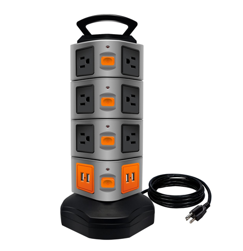 8. LOVIN PRODUCT Power Strip Surge Protector Electric Charging Station